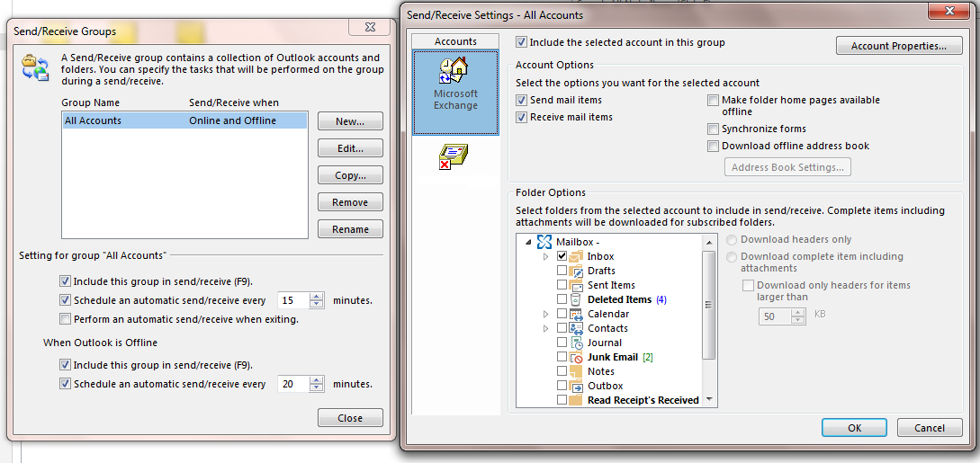 Fixed Outlook 2013 exchange Synchronizing Version     - BT